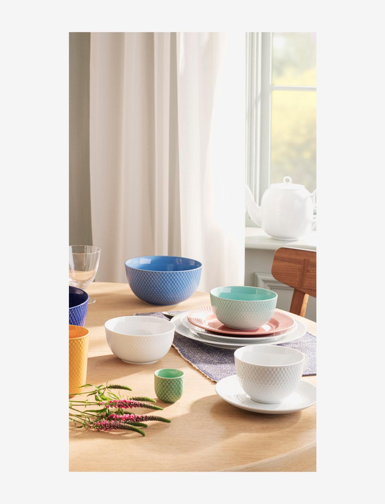 Lyngby Porcelæn - Rhombe Color Bowl - aamiaiskulhot - blue - 1