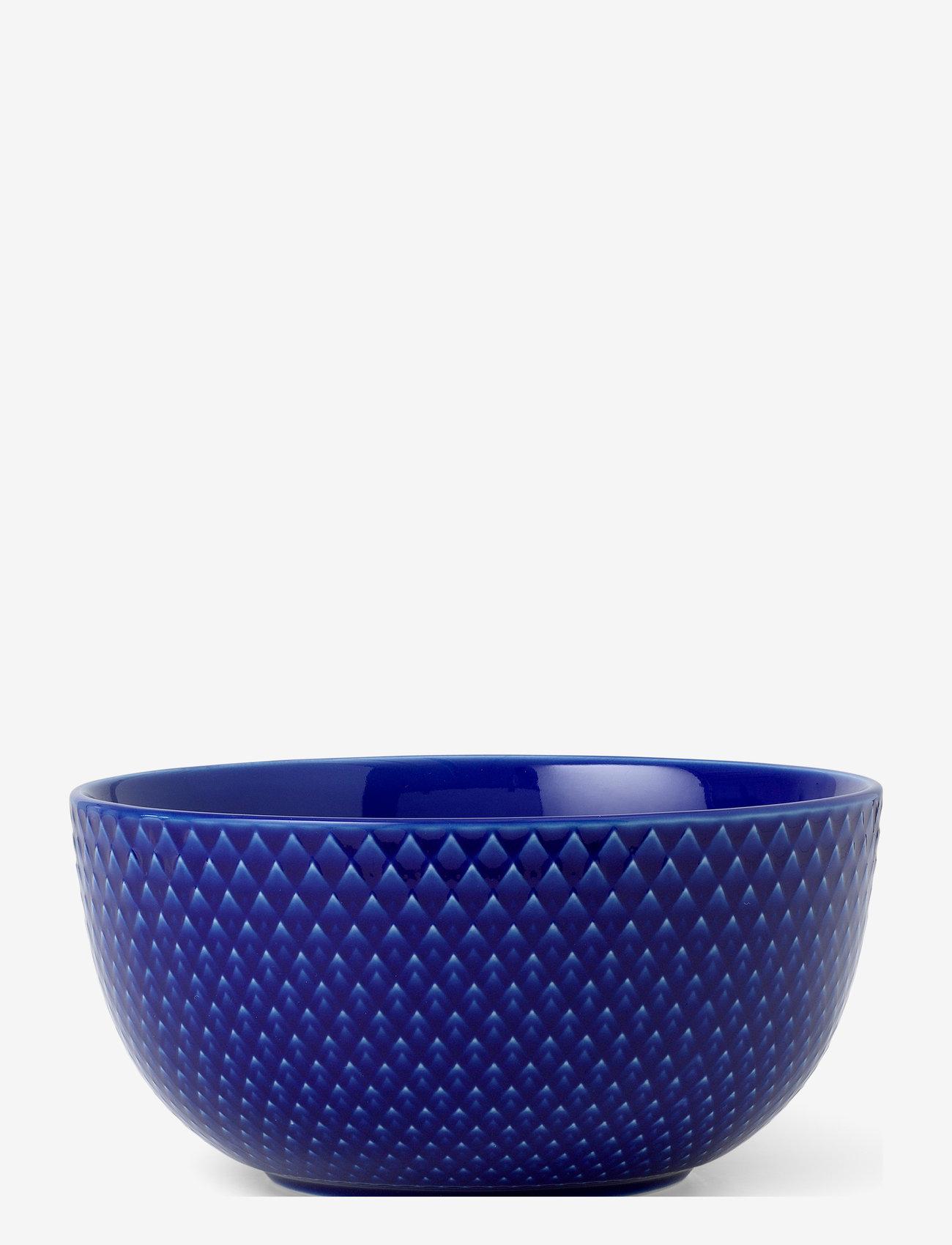 Lyngby Porcelæn - Rhombe Color Bowl - aamiaiskulhot - dark blue - 0