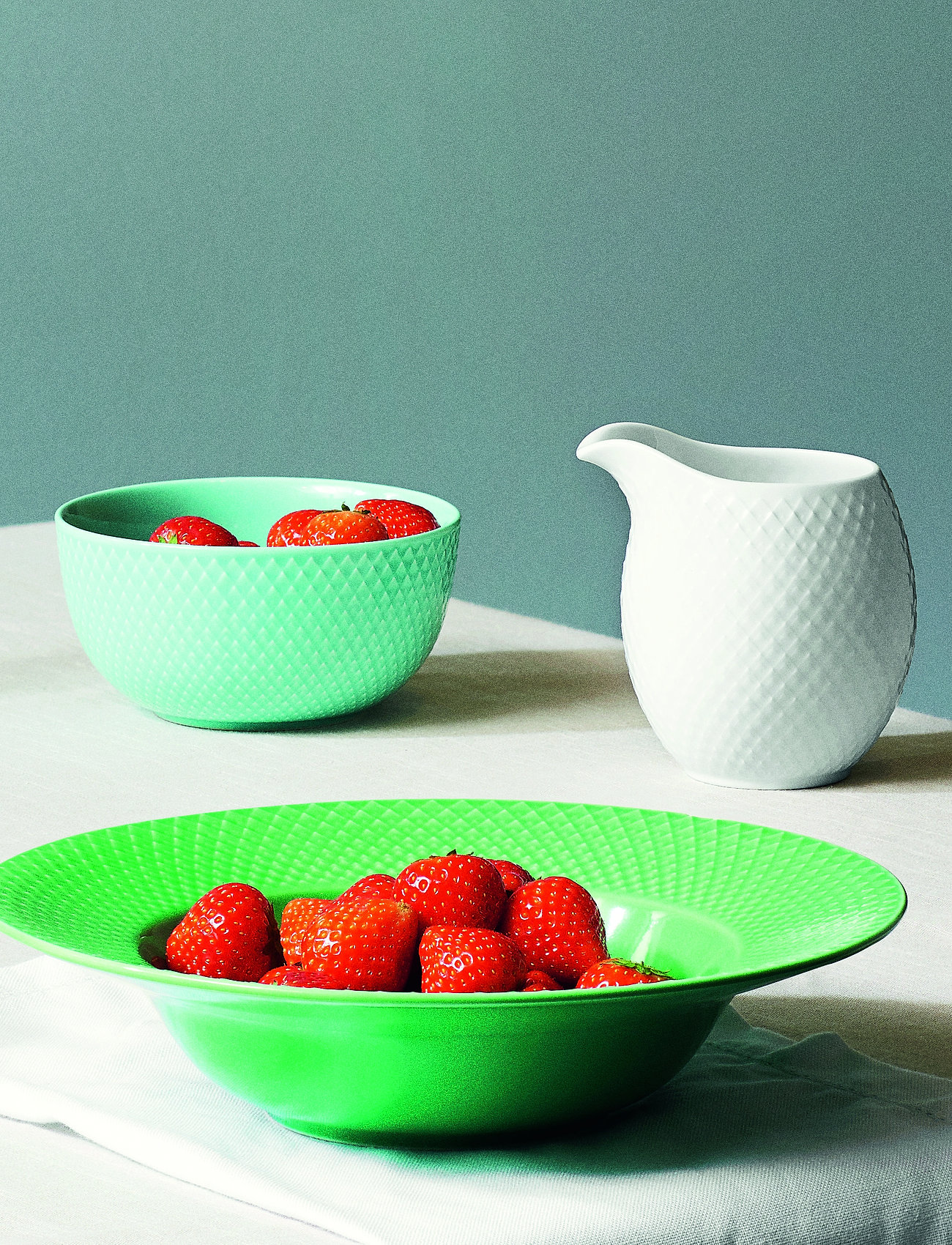 Lyngby Porcelæn - Rhombe Color Bowl - 25–50€ - turquoise - 0