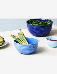 Lyngby Porcelæn - Rhombe Color Serving bowl - tarjoilukulhot - dark blue - 2