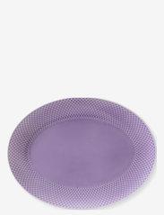 Lyngby Porcelæn - Rhombe Color Oval serveringsfat - serveringsfat - light lilac - 1