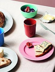 Lyngby Porcelæn - Rhombe Color Bowl - aamiaiskulhot - aqua - 4