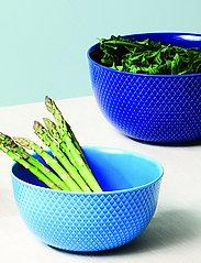Lyngby Porcelæn - Rhombe Color Serving bowl - tarjoilukulhot - dark blue - 3