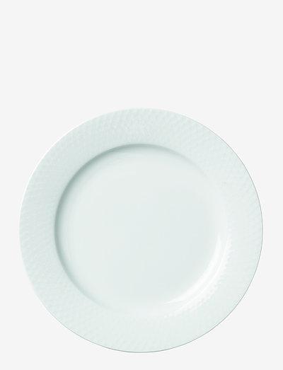 Rhombe Tallerken - middagstallerkener - white