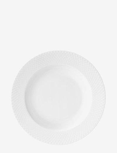 Rhombe Dyp tallerken - dype tallerkener - white