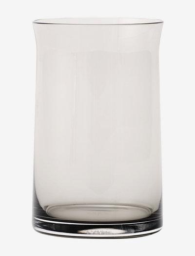 Joe Colombo Vannglass - whiskyglass & cognacglass - smoke/brown