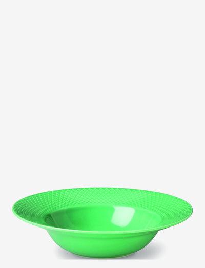 Rhombe Color Dyp tallerken - dype tallerkener - green