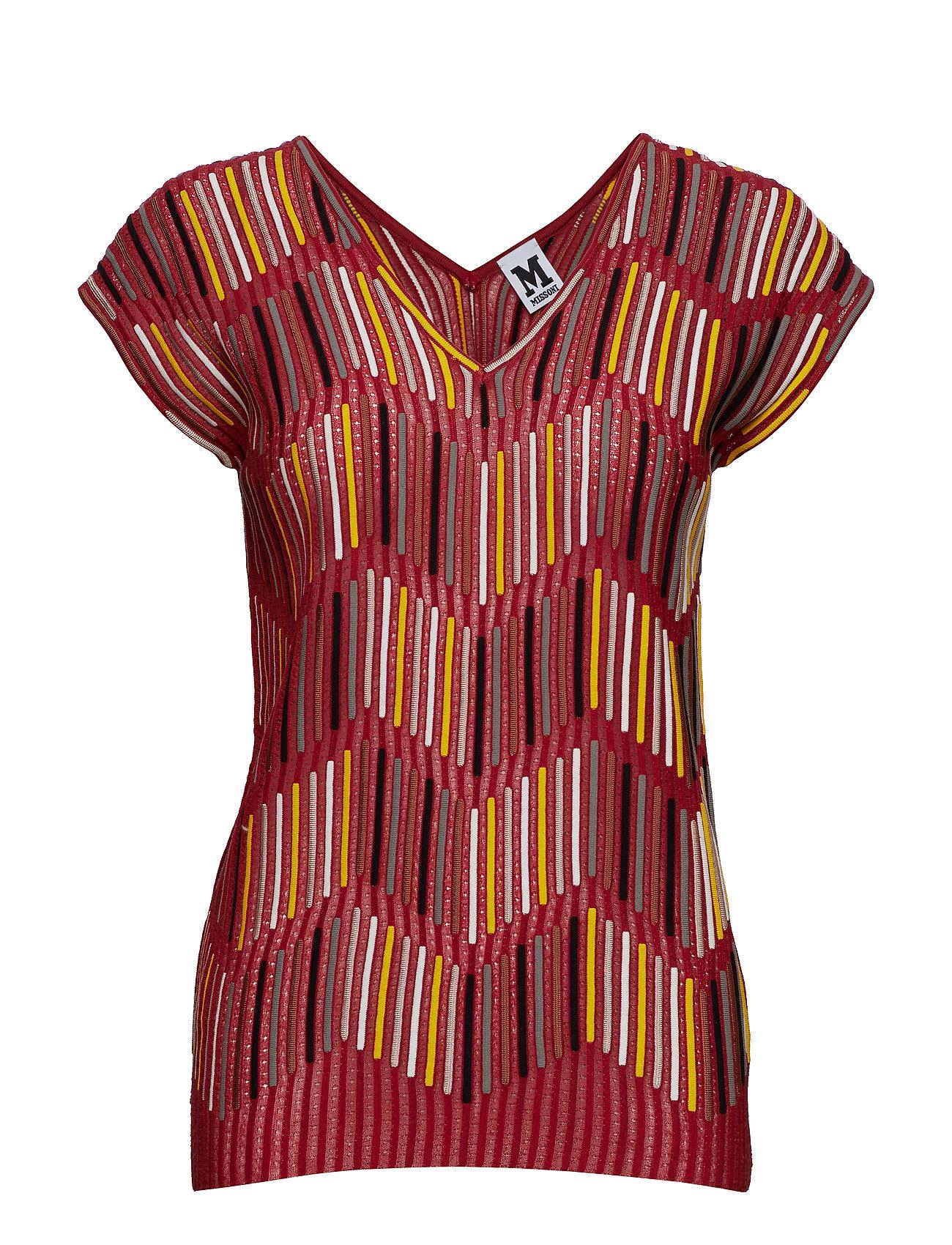 Image of 2dn00096-2k002b T-shirt Top Rød M Missoni (3200532473)