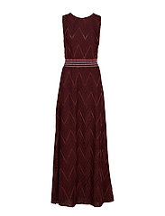 M Missoni-SLEEVES LONG  DRESS - PURPLE