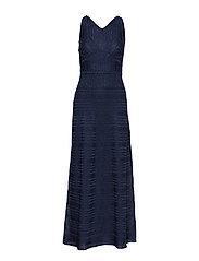 M MISSONI-SLEEVES LONG  DRESS - BLUE