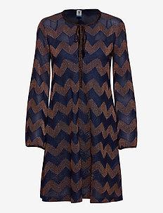 M MISSONI DRESSES - midi kjoler - blue/copper