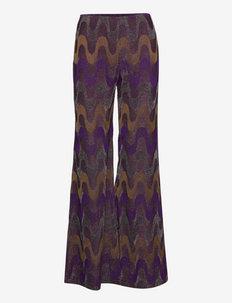 M MISSONI-TROUSERS - bukser med brede ben - iris/cigar