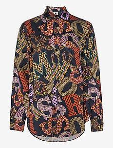 M MISSONI-LONG SLEEVE SHIRT - langærmede skjorter - night/wisteria/wood
