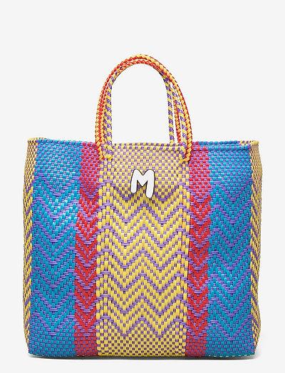 M MISSONI-TOP HANDLE - tote bags - iris/mimosa/cyan/fire