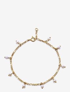 Lula White Bracelet - dainty - gold