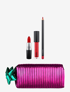 Shiny Pretty Things Goody Bag Lips Red - BLAZING YULE POM DATE CHERRY