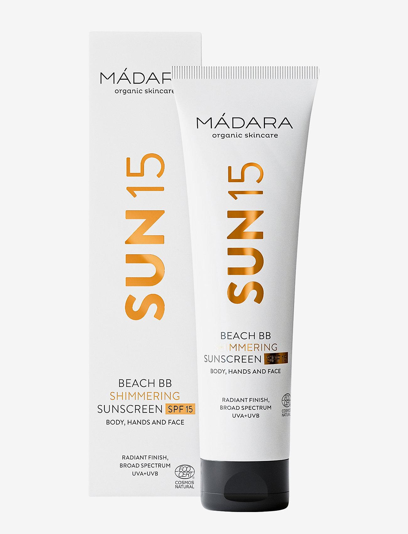 MÁDARA - Beach BB Shimmering Sunscreen SPF15, 100ml - kropspleje - clear - 1
