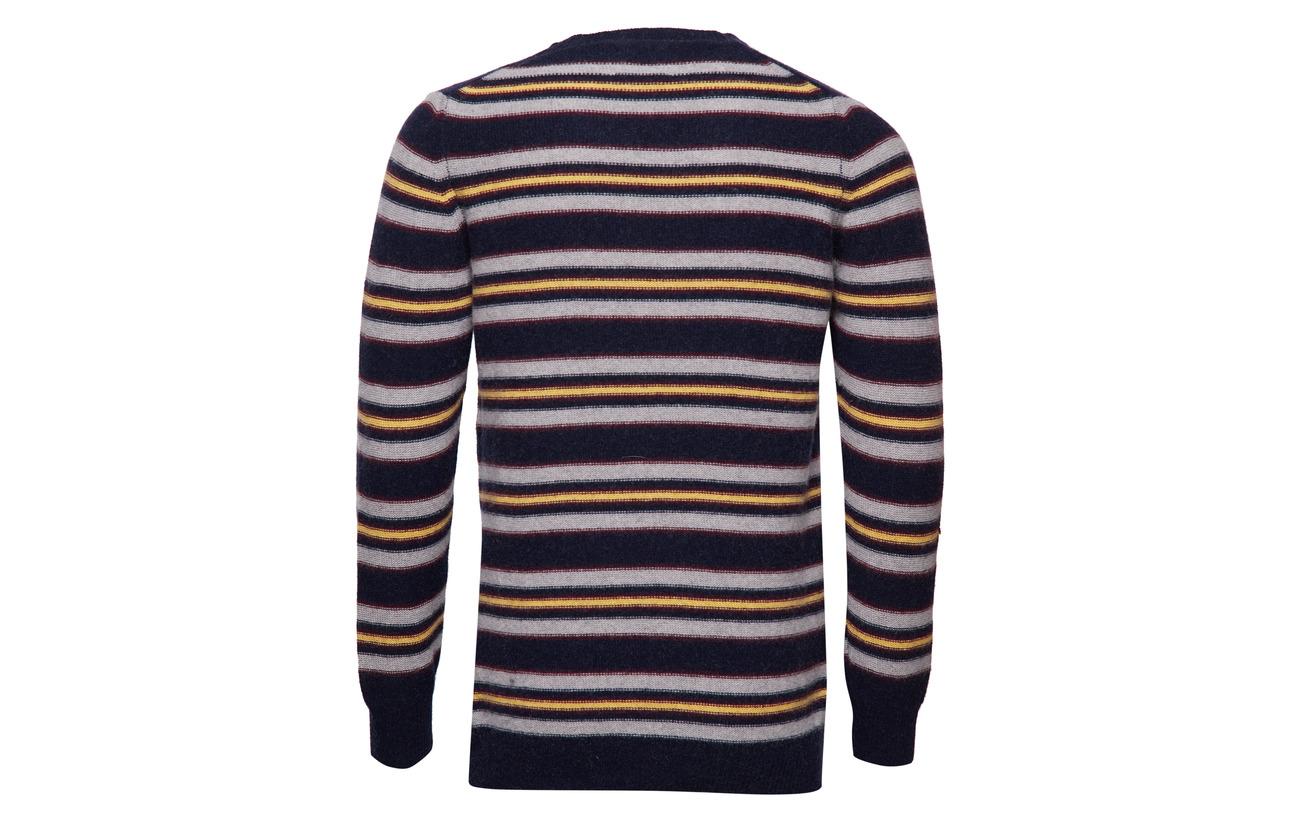 grey Melange Kenny Nørgaard Navy Knit Reversed sassa yellow Stripe Mads HRfYqH