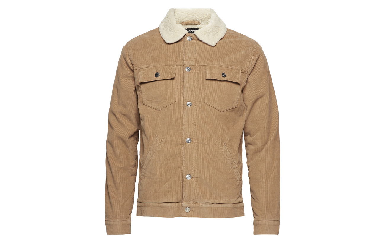 Mads Nørgaard Sherpa Zaggy Jacket Camel Cord a8arq