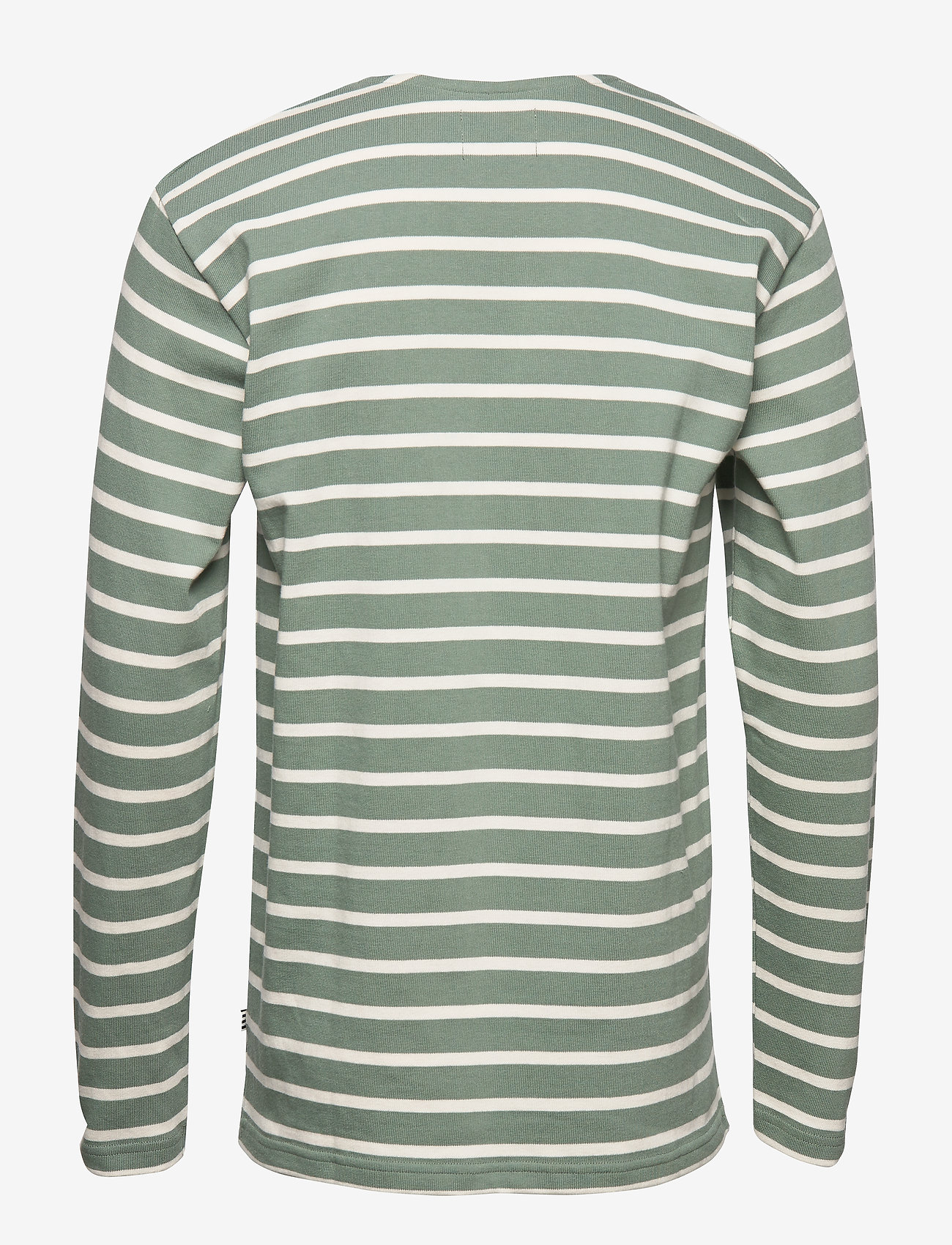 Mads Nørgaard - Picasso Tash Long - long-sleeved t-shirts - sea spray/white alyssum - 1