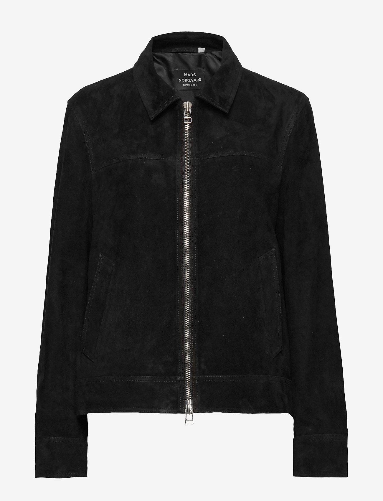 Mads Nørgaard - Leather Jusuf - nahkatakit - black - 0