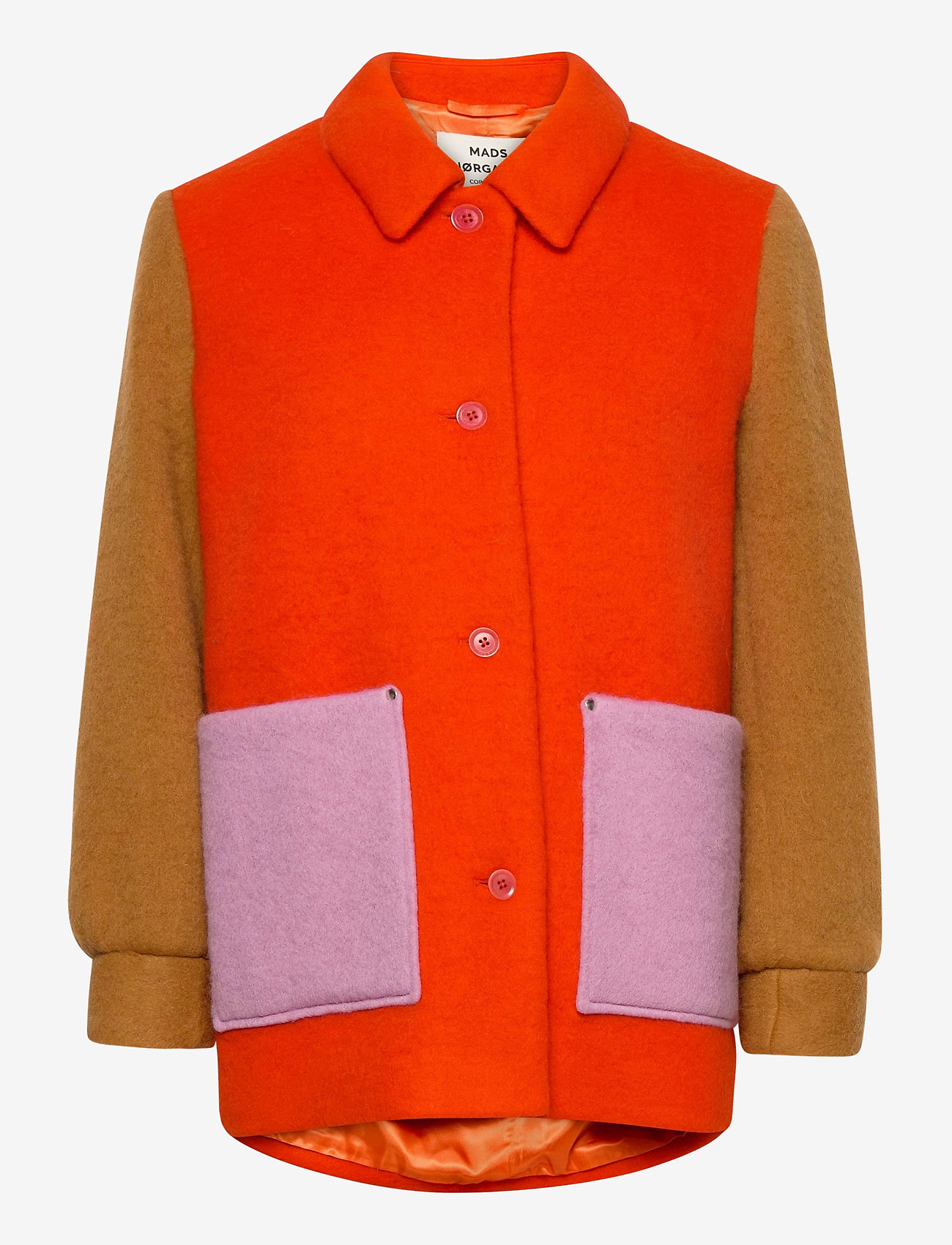 Mads Nørgaard - Knitted Wool Costanna - wool jackets - multi red - 1