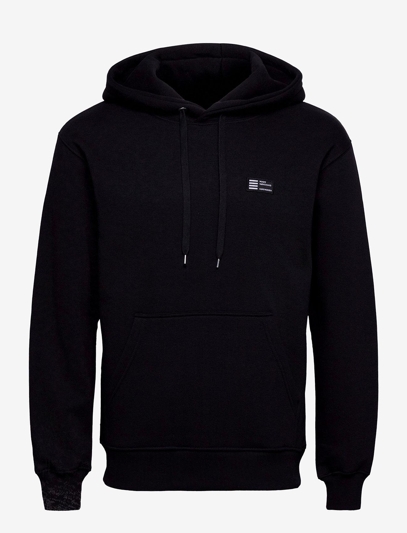 Mads Nørgaard - New Standard Hoodie Badge - basic sweatshirts - black - 0