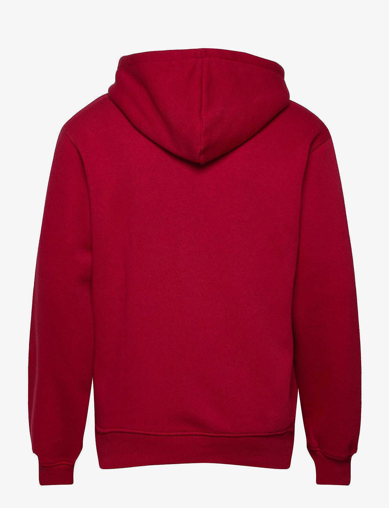 Mads Nørgaard - New Standard Hoodie Badge - basic sweatshirts - rio red - 1