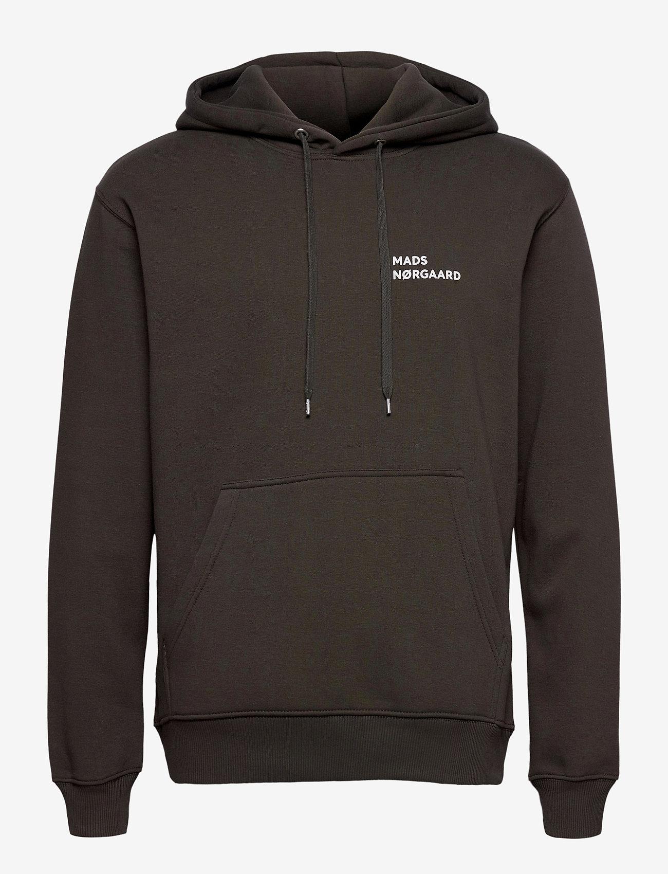 Mads Nørgaard - New Standard Hoodie Logo - basic sweatshirts - forest night - 0