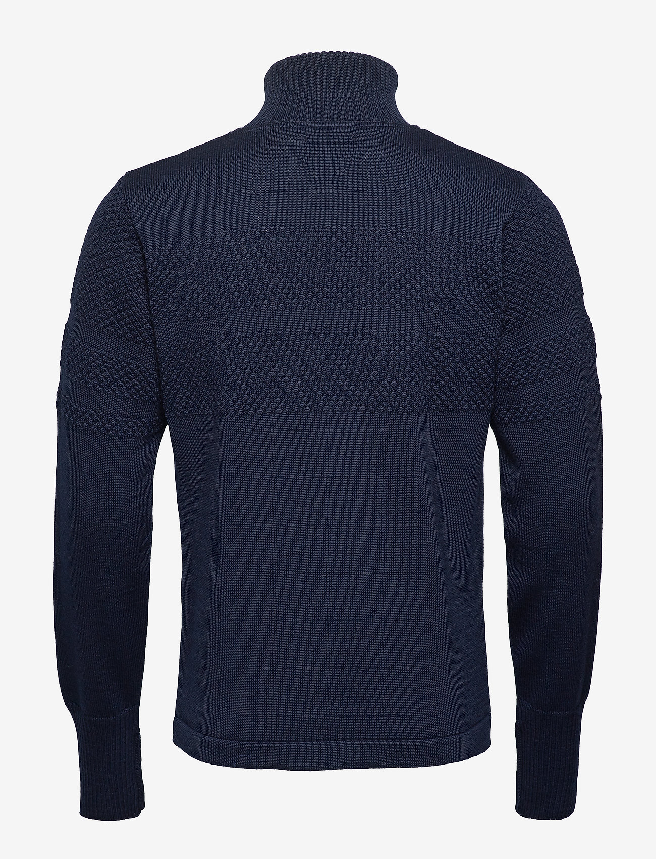Mads Nørgaard - 100% Wool Klemens Zip - basic strik - navy - 1