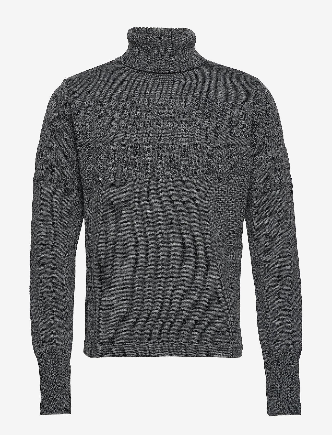 Mads Nørgaard - 100% Wool Klemens - basic strik - charcoal melange - 0