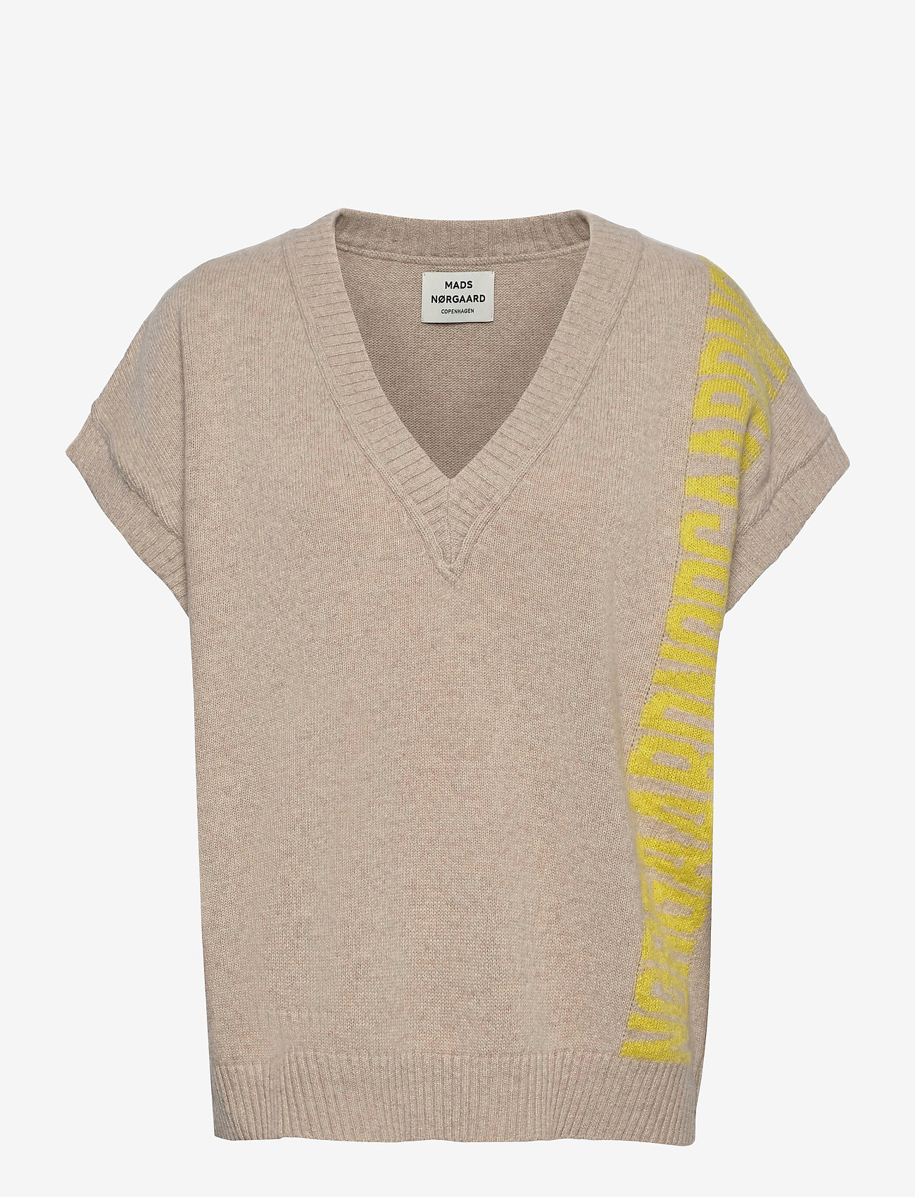 Mads Nørgaard - Recy Soft Knit Vanessa - knitted vests - beige - 0