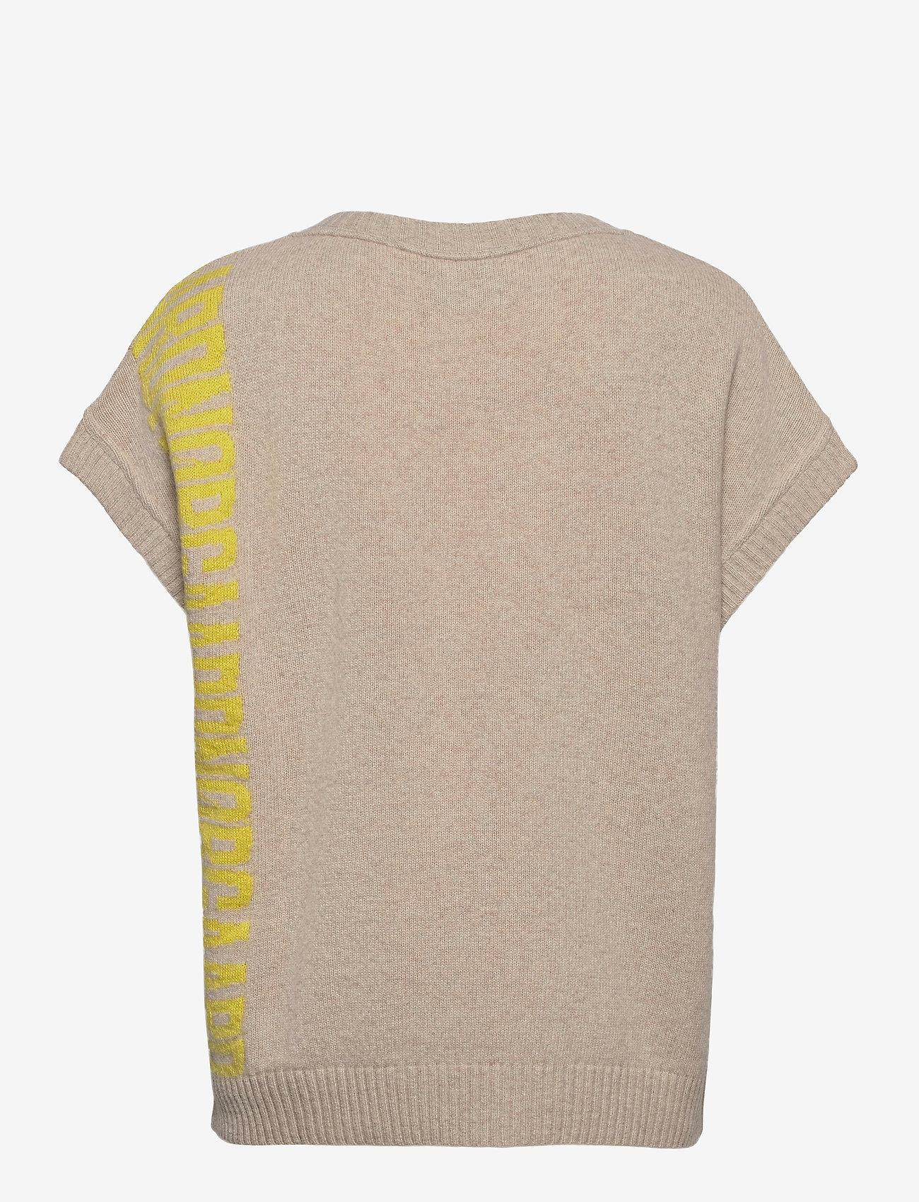 Mads Nørgaard - Recy Soft Knit Vanessa - knitted vests - beige - 1