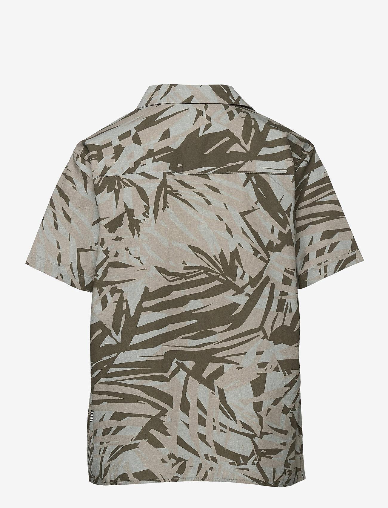 Mads Nørgaard - Jungle Print Samsino - shirts - olive night - 1