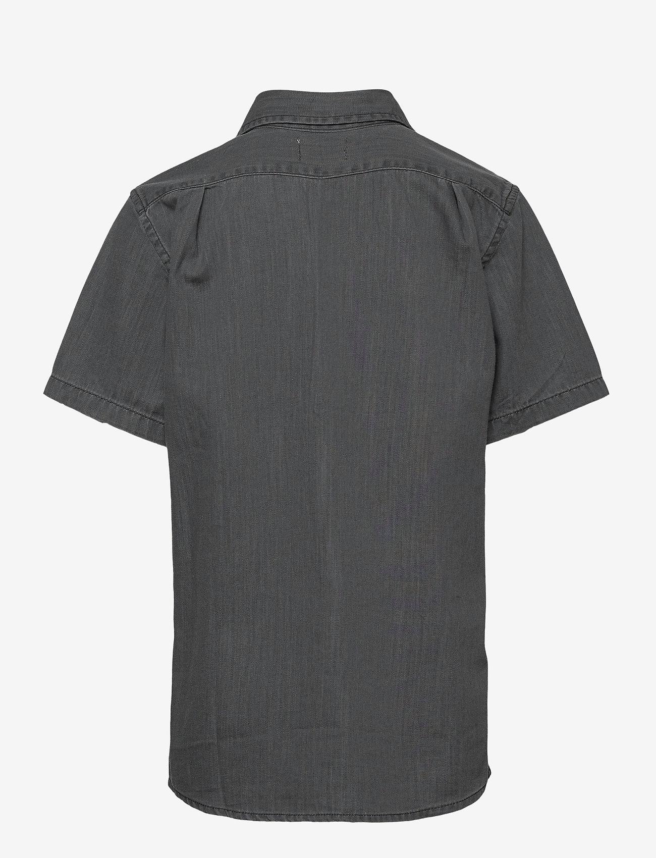Mads Nørgaard - Dark Soft  Svantino Short - shirts - dark washed - 1