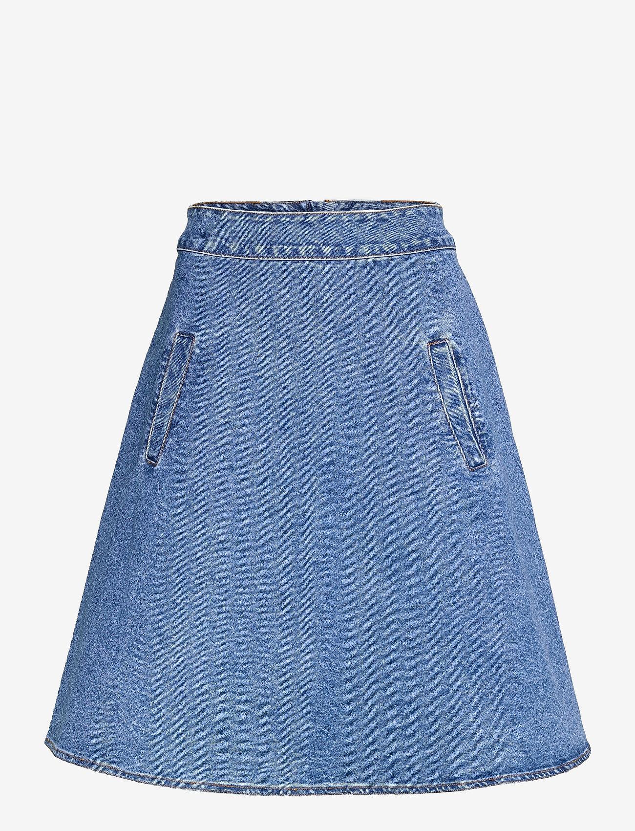 Mads Nørgaard - Sabik Organic Stelly - denim skirts - stone washed - 0