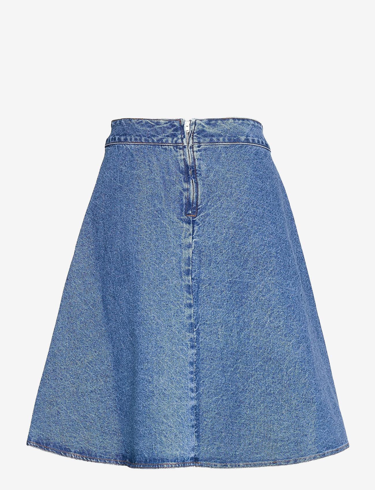 Mads Nørgaard - Sabik Organic Stelly - denim skirts - stone washed - 1