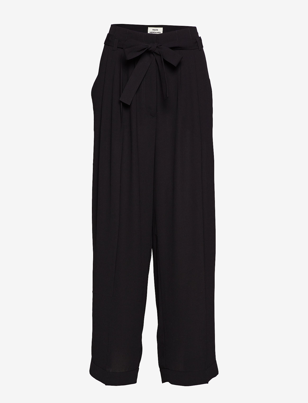 Mads Nørgaard - Crepe georgette Pleasy - bukser med brede ben - black - 0