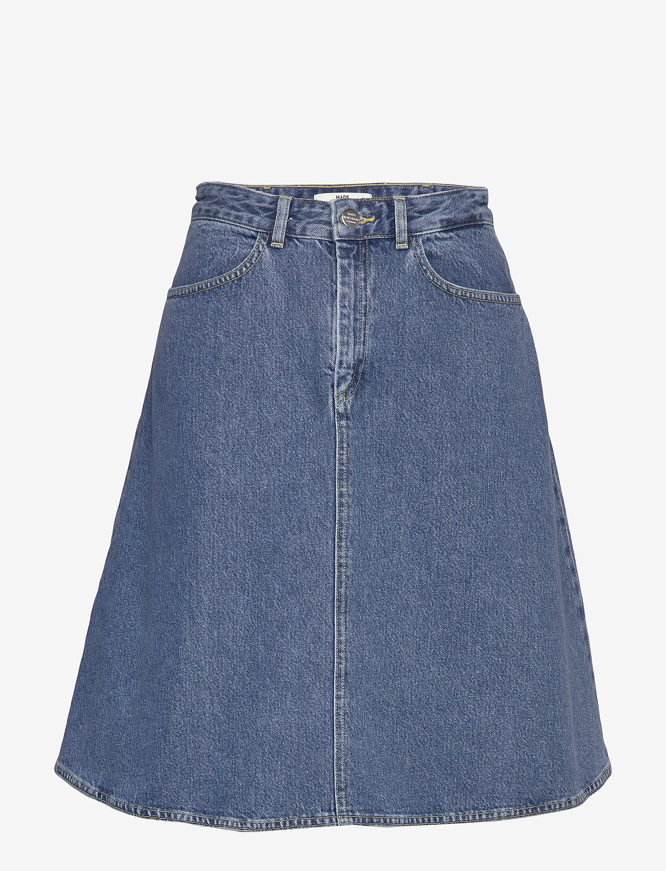 Mads Nørgaard - Heavy Indigo Steffi - jeansowe spódnice - worn stone - 0