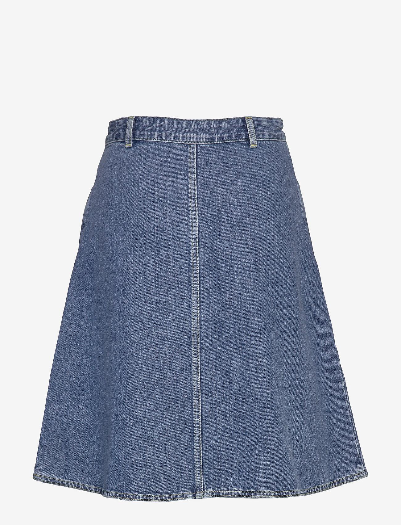 Mads Nørgaard - Heavy Indigo Steffi - jeansowe spódnice - worn stone - 1