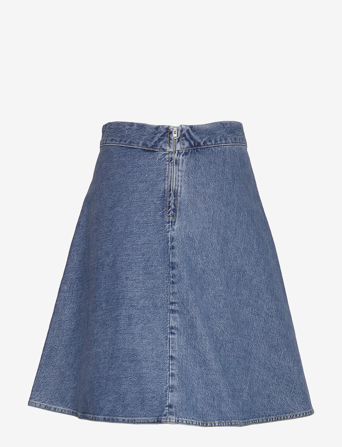 Mads Nørgaard - Heavy Indigo Stelly - jeansowe spódnice - worn stone
