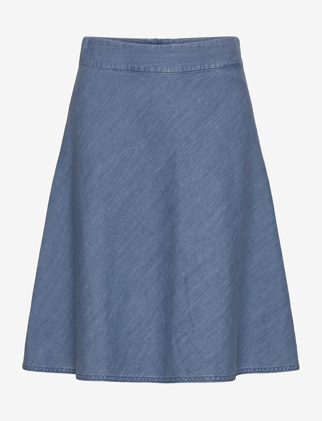 Mads Nørgaard - Soft Indigo Stelly C - jeansowe spódnice - pale indigo - 0