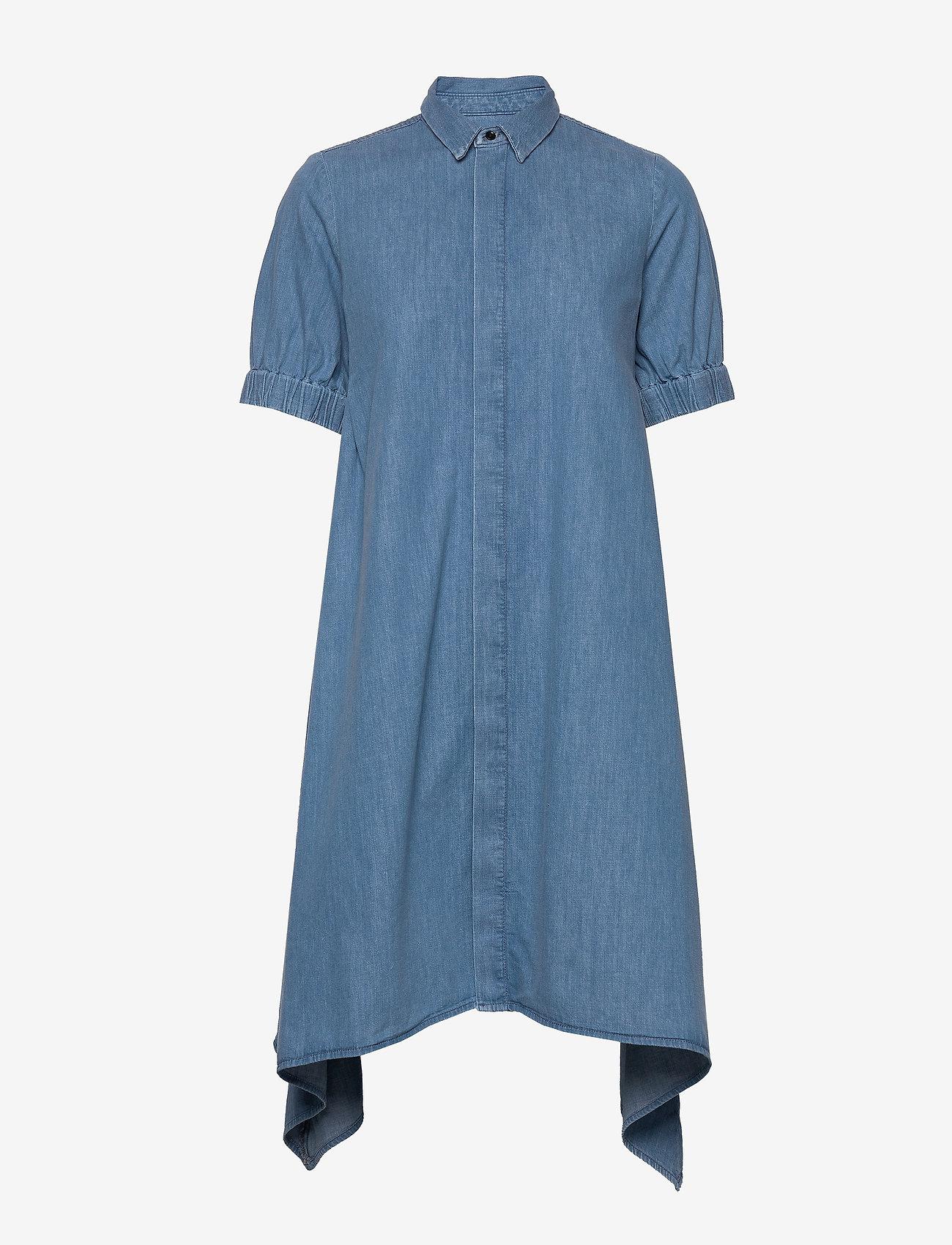 Mads Nørgaard - Soft Indigo Dancella - skjortekjoler - pale indigo