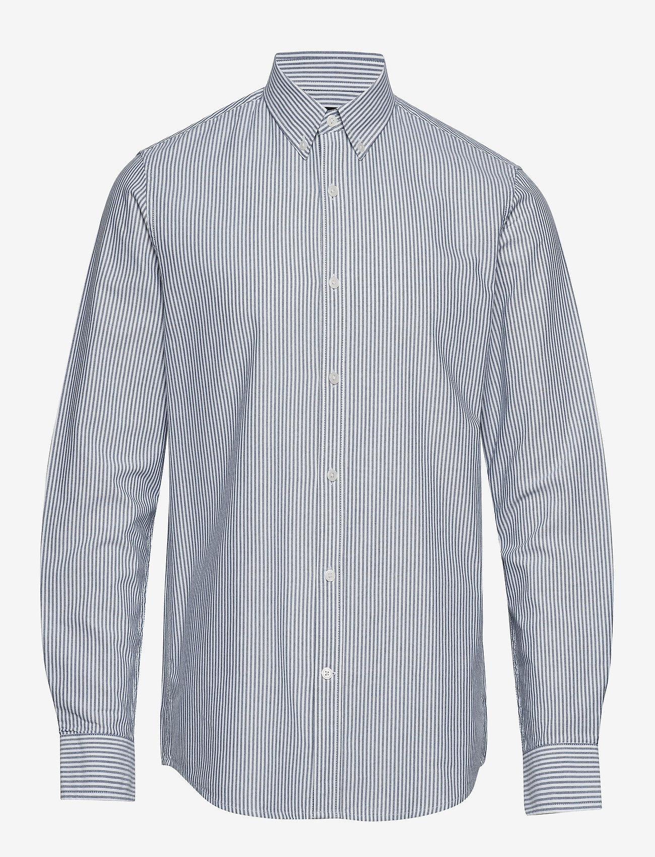 Mads Nørgaard - Striped Oxford Sawsett - chemises d'affaires - blue stripe - 0