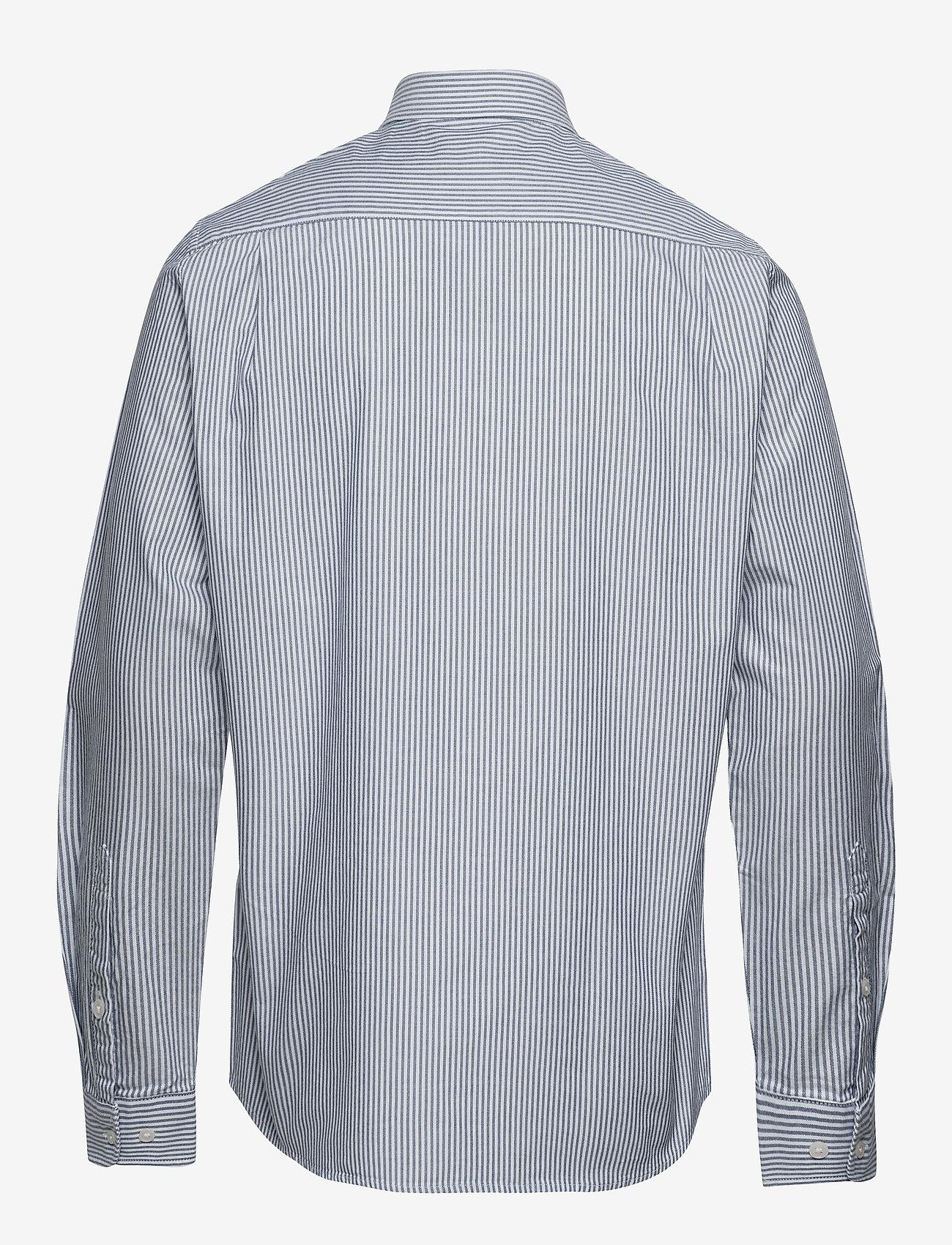 Mads Nørgaard - Striped Oxford Sawsett - chemises d'affaires - blue stripe - 1