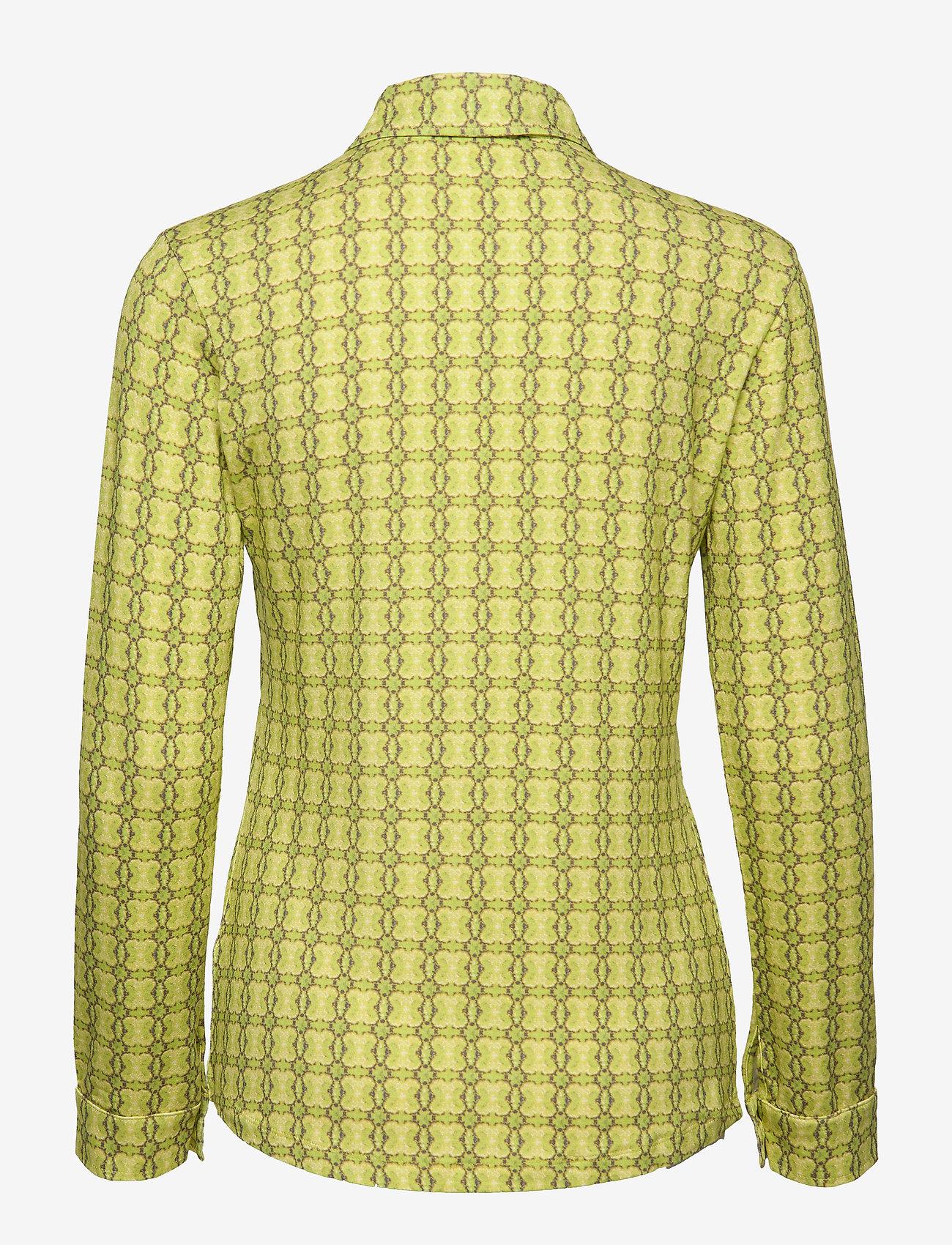 Mads Nørgaard Printed Stretch Soleima - Bluzki & Koszule BRIGHT LIME - Kobiety Odzież.