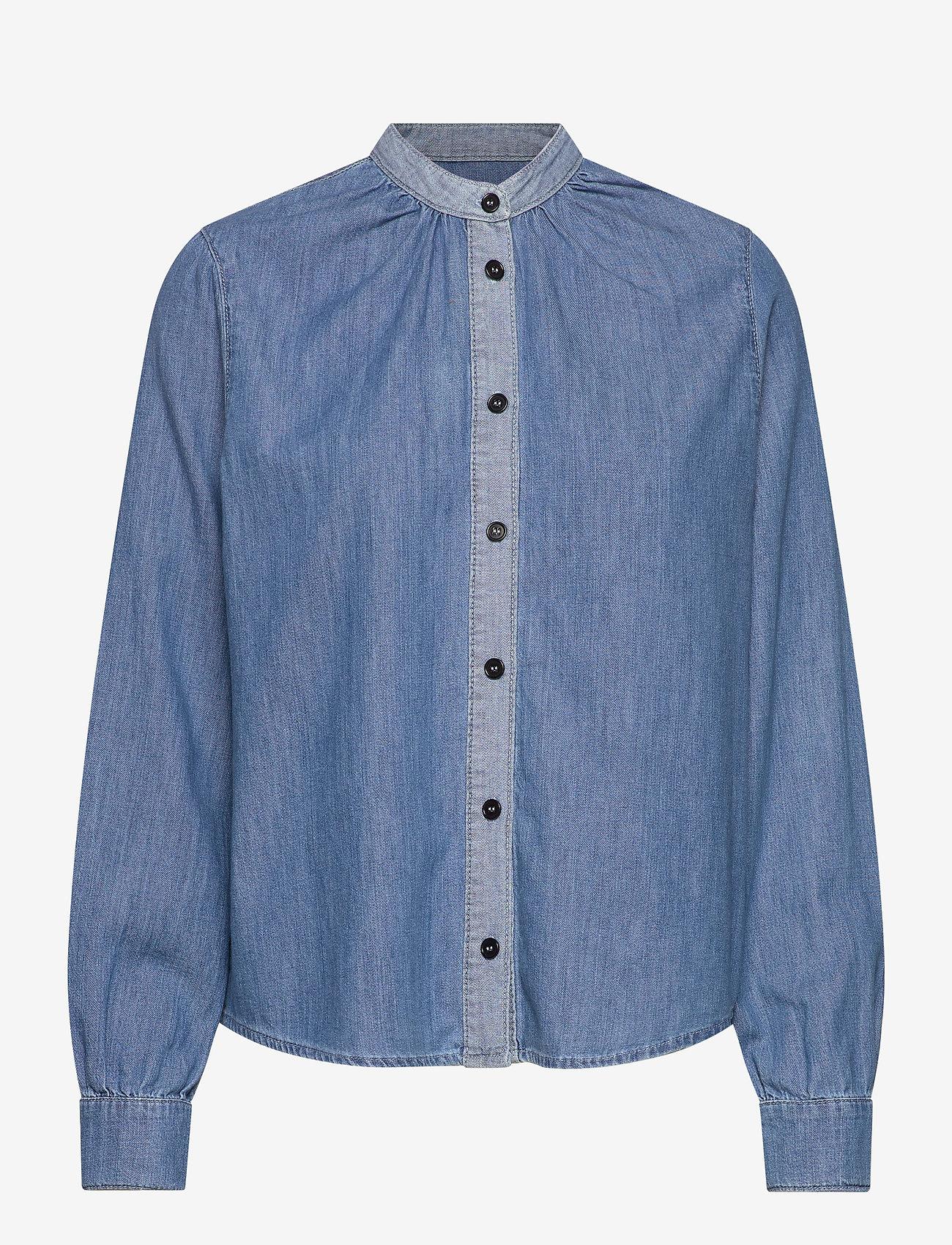 Mads Nørgaard - Light Indigo Sylle - jeansblouses - mid blue - 1