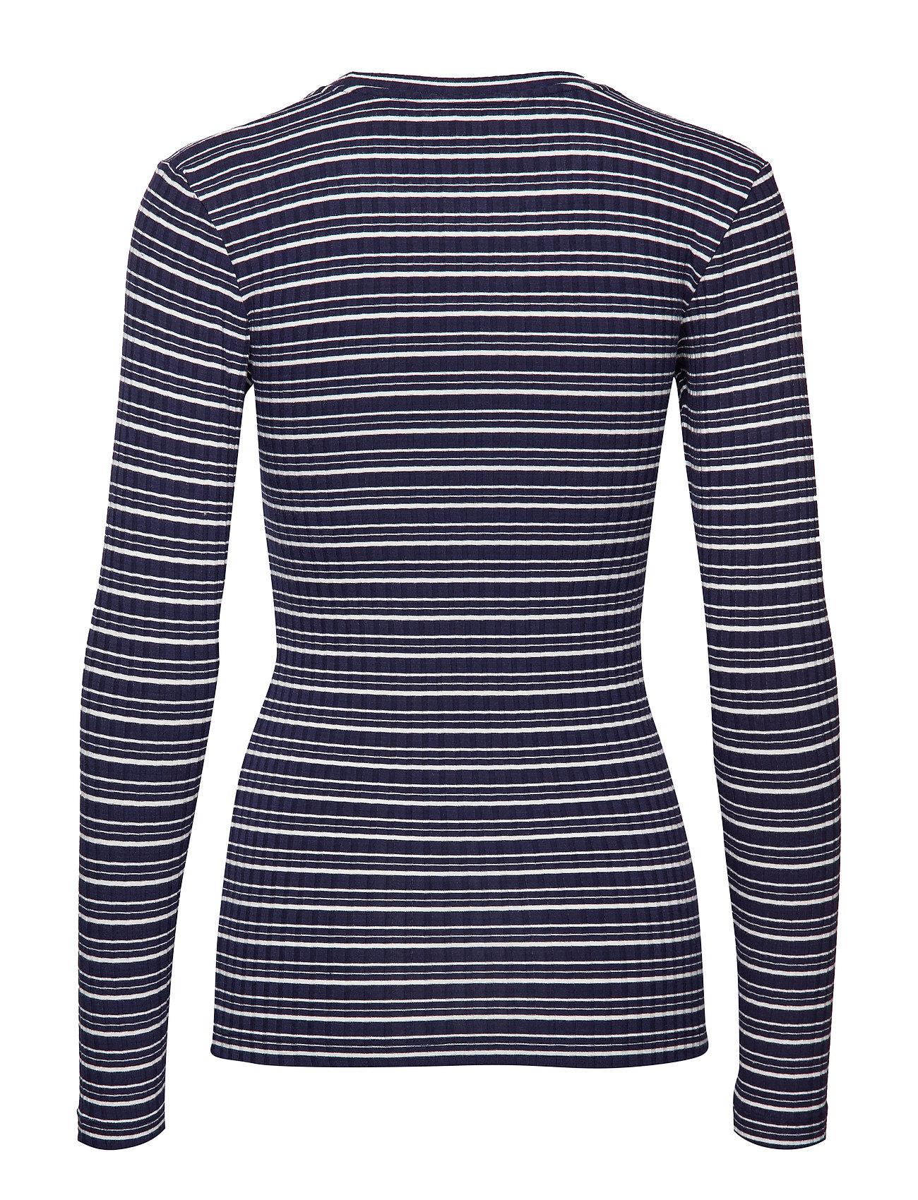 5x5 Cool Stripe Tuba S Langærmet T shirt Blå Mads Nørgaard