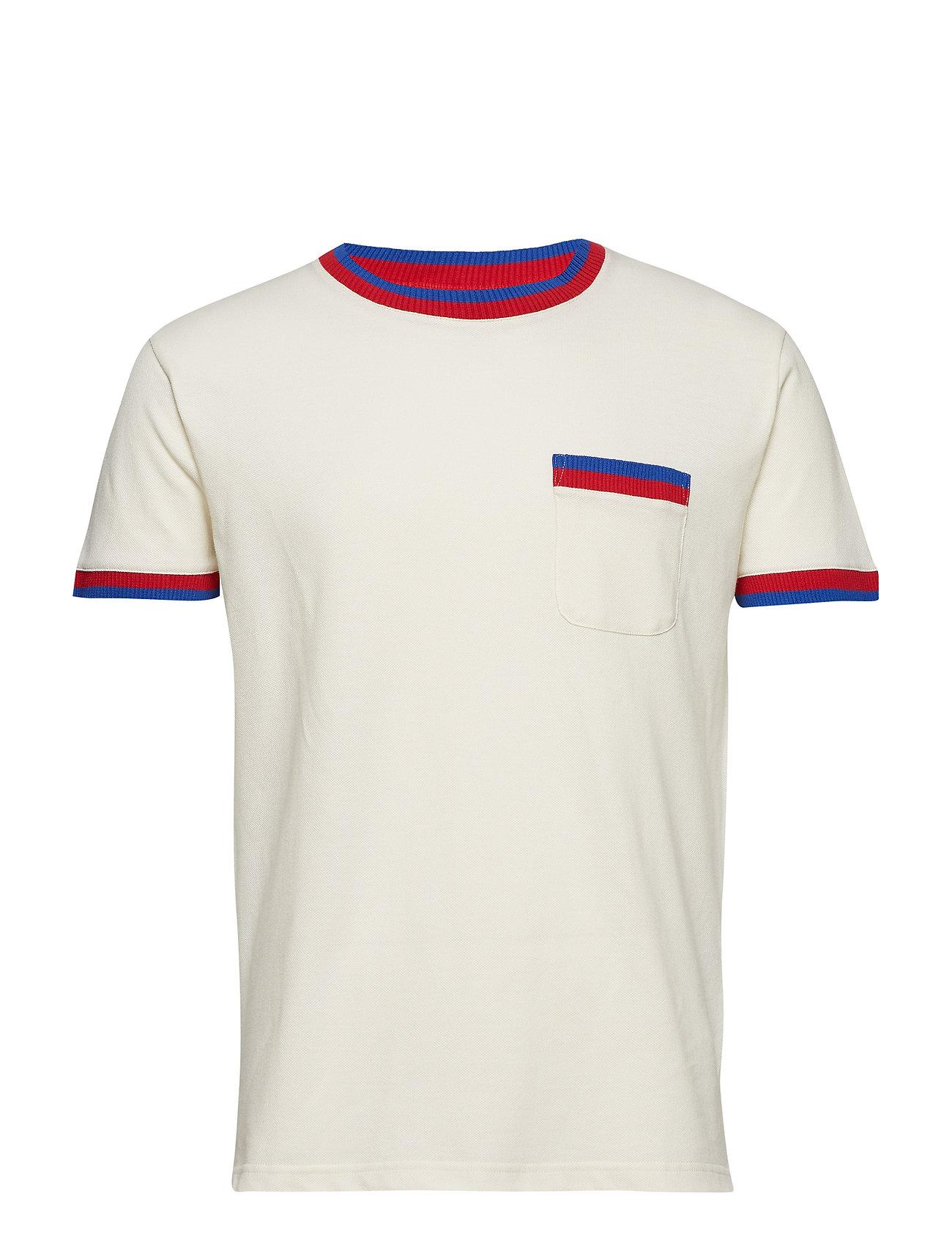Sport Rib Tonser T shirt Hvid MADS NØRGAARD