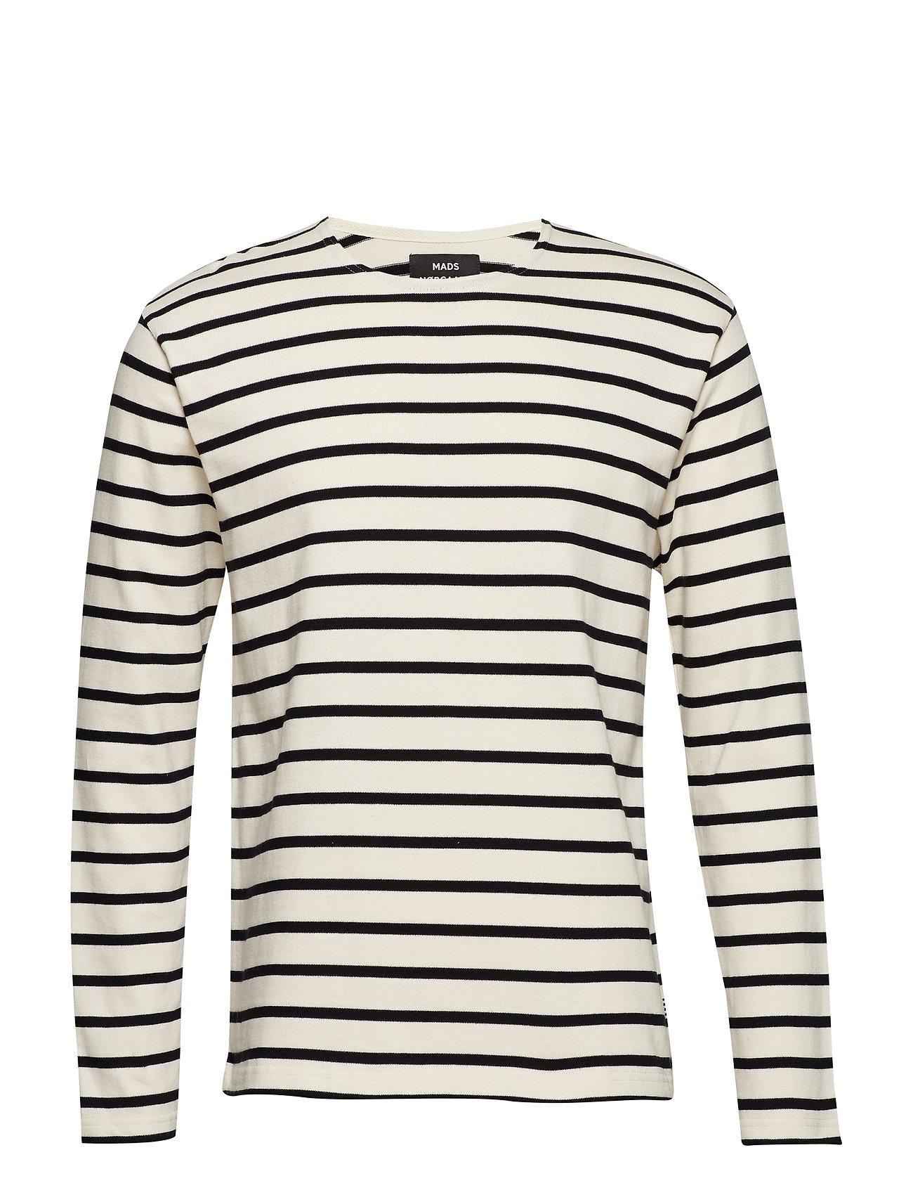 58ed1aa8e6e WHITE ALYSSUM/BLACK Mads Nørgaard Picasso Tash Long langærmede t ...